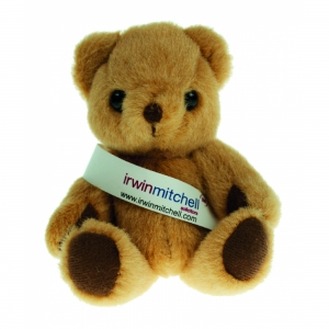 An image of 13cm Honey Jointed Sash Bear