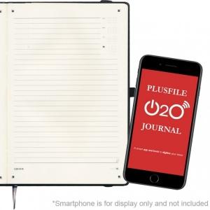An image of Black Printed PLUSFILE O2O Digital Marano Baladek Notebook
