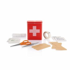 An image of 18 pcs First Aid Tin Box