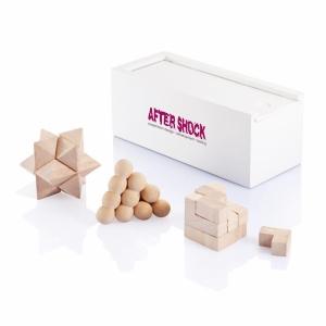 An image of 3 Pcs Brain Puzzle Set