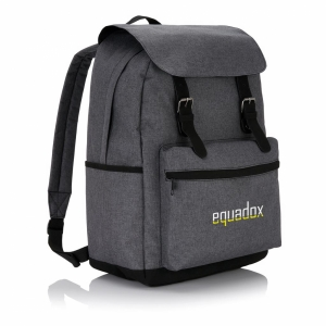 An image of Logo Laptop Backpack With Magnetic Buckle Straps
