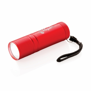 An image of red Custom Printed COB Torch