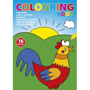 An image of A4 Children's Colouring Book With Sixteen Designs On Eight Pages.