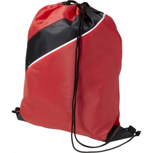 An image of  White Marketing Polyester (210D) drawstring backpack