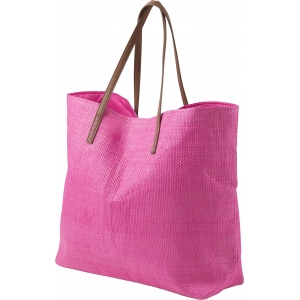 An image of  Red Marketing Polyester beach bag