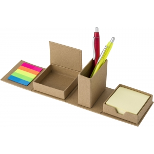 An image of Advertising Cardboard cube desk organizer.