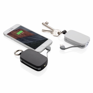 An image of 1.200 MAh Keychain Powerbank With Integrated Cables