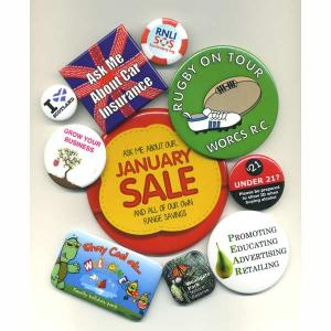 An image of Advertising 25mm Button Badge - 1 colour print