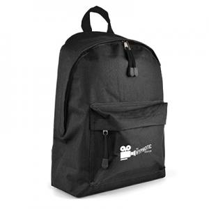 An image of Black Marketing Polyester Backpack
