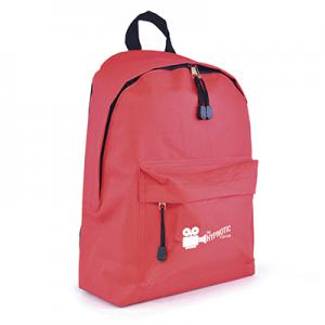 An image of Red Marketing Polyester Backpack