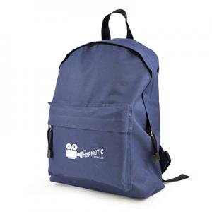 An image of Blue Logo Polyester Backpack
