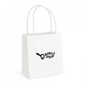 An image of Brunswick White Small Paper Bag