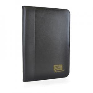 An image of Black Promotional Pickering A4 Zipped