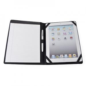 An image of White Custom Printed Tablet Holder With Notepad