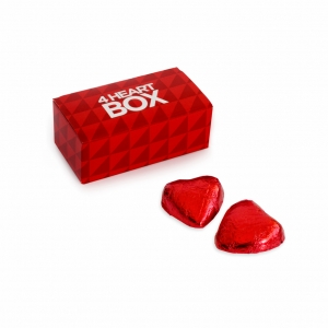 An image of Valentines Milk Chocolate Heart box