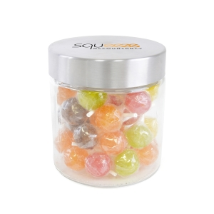 An image of Large Glass Jar With Lollipops