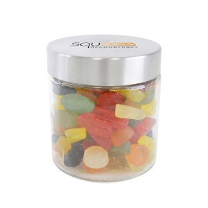An image of Large Glass Jar With Wine Gums