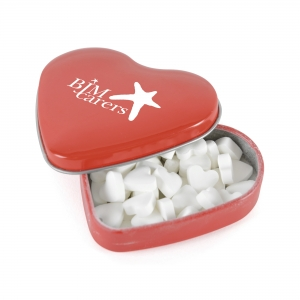 An image of Heart Shaped Mint Tin