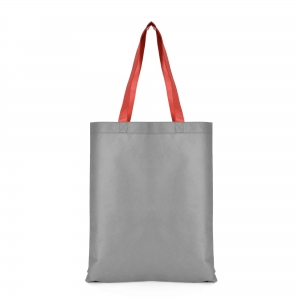 An image of Grey/Red Advertising Two Tone Shopper